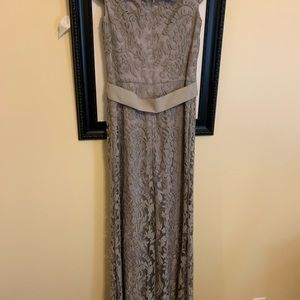 Lace Off-the-Shoulder Gown (worn once)
